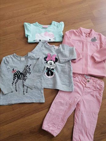 Zestaw ubranek 80 H&M bluza bluzka spodnie Hello Kitty gratis