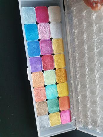Aguarela 24 metal colors