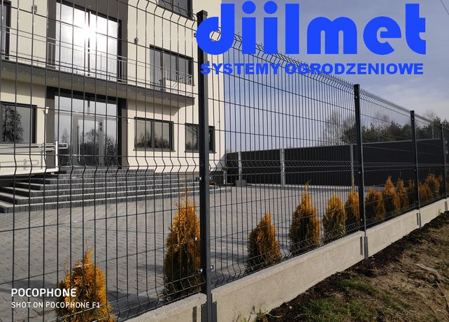 Panele ogrodzeniowe | Ogrodzenie panelowe ocynk + kolor 4mm / 123 /250