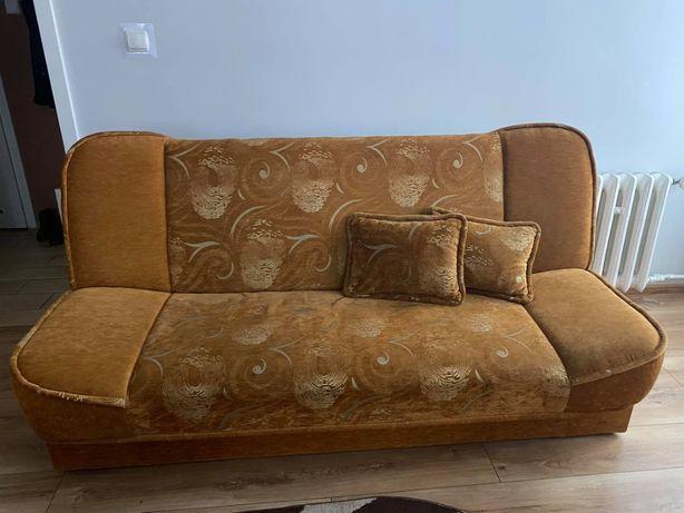 komplet wypoczynkowy wersalka + 2 fotele + 2 pufy