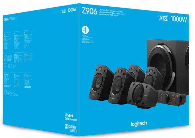 Zestaw głośników LOGITECH Z906 5.1, NOWY