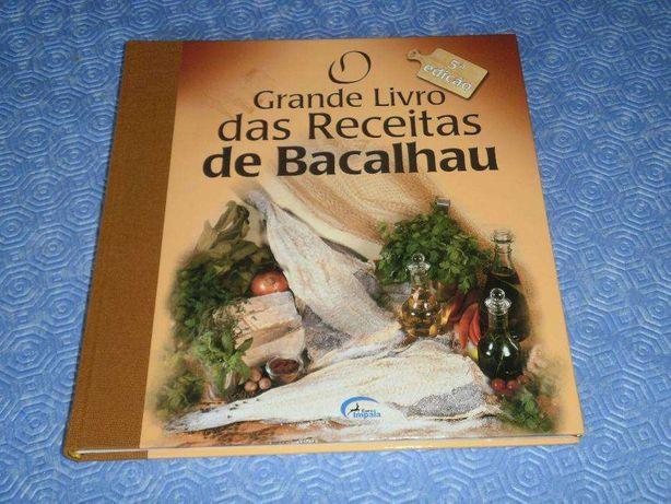 O GRANDE LIVRO das RECEITAS de BACALHAU, NOVO, 176 Pgs fotos a cores