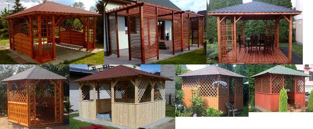 wyroby z drewna, altanka, meble ogrodowe, pergola, huśtawka, domek