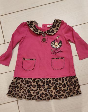 Bluzka tunika rozmiar 86 sukienka Mini Mouse