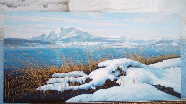 Картины маслом на холсте.Картина пейзаж 60*120.Картина для интерьера