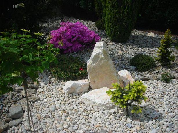 Głazy Biała Marianna kamień biały ogrodowy kamienie białe marmur gnejs