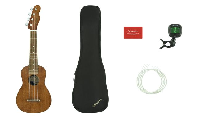 Zestaw Ukulele Sopranowe Fender Seaside + Pokrowiec, Stroik Nowe/Sklep