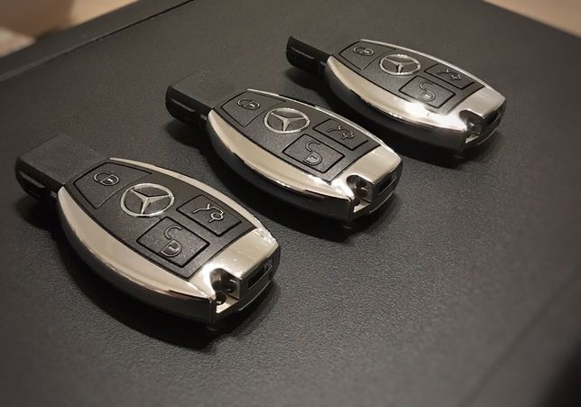 Ключ Mercedes мерседес. Привязка. Изготовление