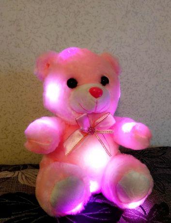 Светящийся мишка. ПОДАРОК ко Дню Рождения. Плюшевая игрушка, ночник
