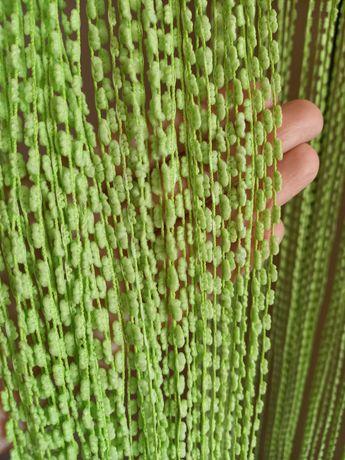Firana zielone makarony