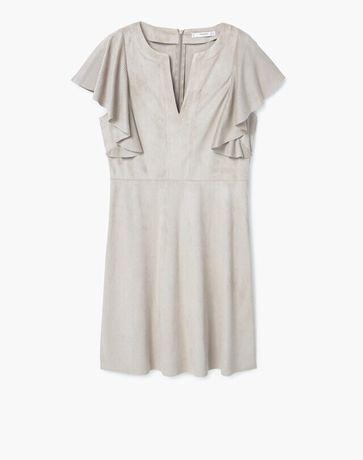 Замшевое платье манго