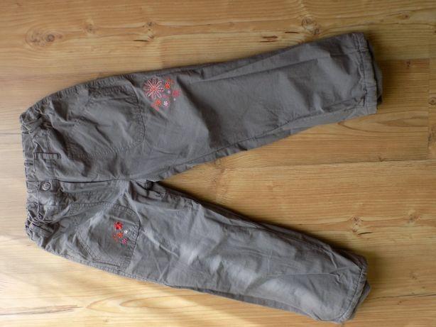 spodnie szare ocieplane 122 cm