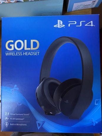 Vendo Auscultador Bluetooth PS4 Gold novo