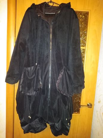Женское двухстороннее пальто размер 56