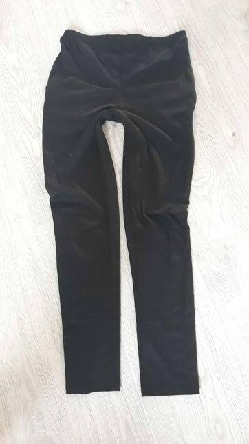 Spodnie ciążowe M/L eleganckie z kieszeniami czarne