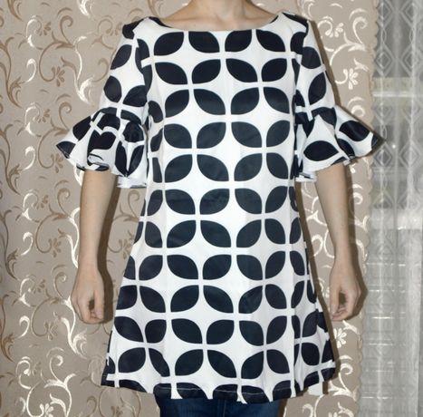 Нарядное Атласное Платье Сукня Плаття Туника Блузка Топ Одежда Блуза