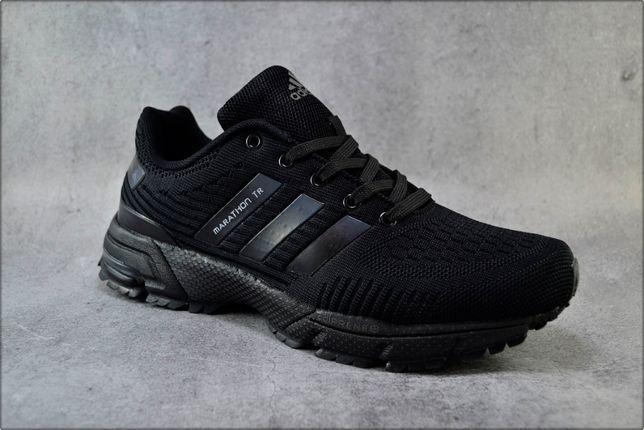 Мужские кроссовки Adidas Marathon Black, Повседневная обувь