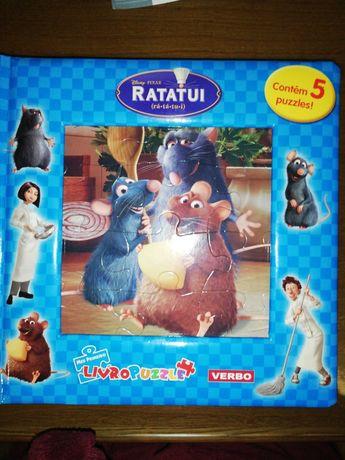 Livro infantil - Ratatui com 5 puzzles