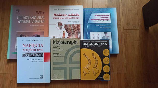 Zestaw książek fizjoterapia masaż anatomia