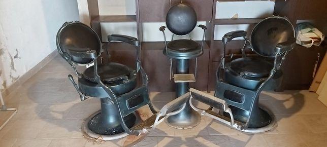 Conjunto de 3 cadeiras barbeiro mais de 50 anos