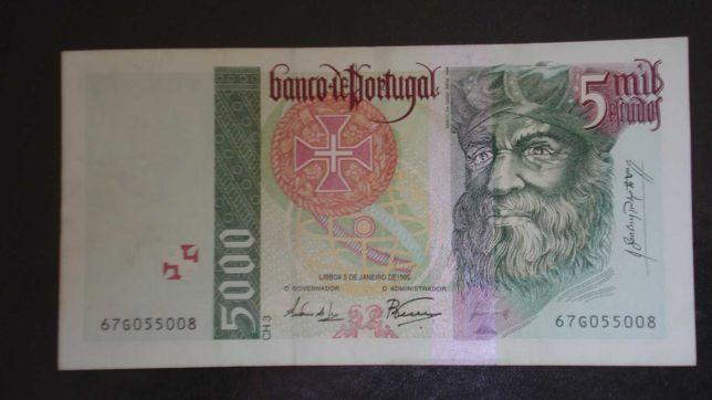 Nota 5000 escudos Vasco da Gama