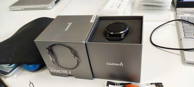Zegarek sportowy Garmin Vivoactive 4 czarny 21 miesięcy gw. Ofic. dyst