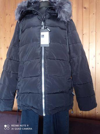 Bardzo ładna czarna kurtka zimowa damska.