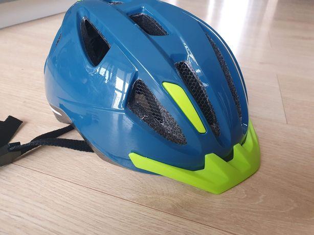 Kask rowerowy dla dziecka ze światełkiem LED r. 49-54 CM + rękawiczki