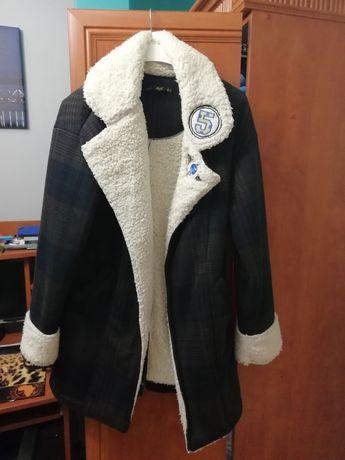 Kurtka płaszcz baranek futerko S 36