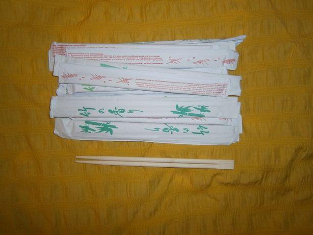 Палочки китайские бамбуковые 52шт для суши китайской японской еды 22