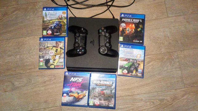 PS4 1TB 2pady 6 gier