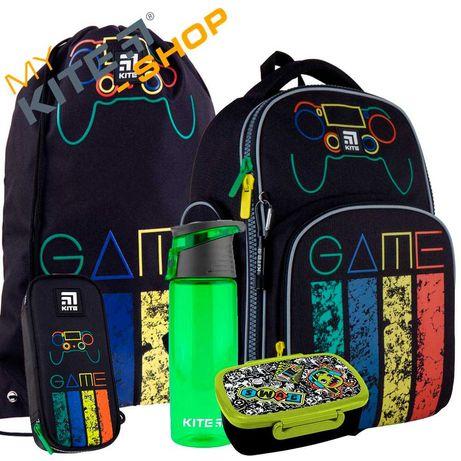 Школьный набор 5в 1 КАЙТ KITE Рюкзак сумка пенал для мальчика