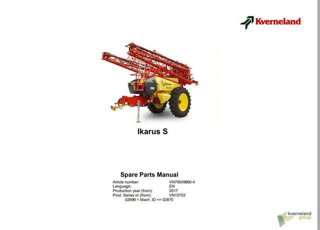 Katalog części opryskiwacza Ikarus S 28 ENG