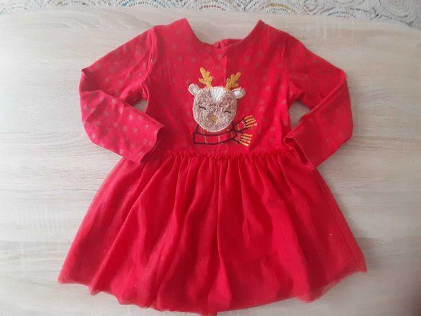 Sukienka świąteczna  roz.92