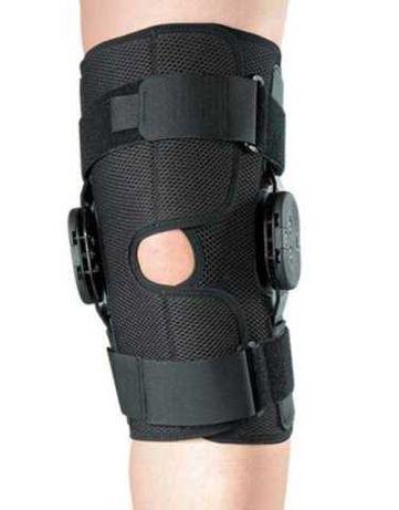 Бандаж на колено с регулировкой угла сгибания
