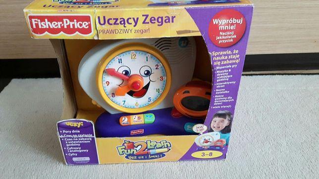 Fisher Price uczący zegar - Polski