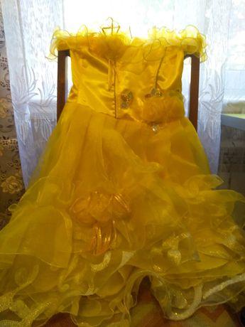 Нарядное платье для девочки 5-6-7 лет. Ориентируйтесь на замеры