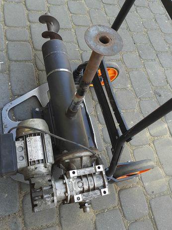 Podajnik ślimakowy z motoreduktorem - piec na ekogroszek -