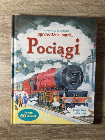 Sprawdźcie sami pociągi, książka z okienkami