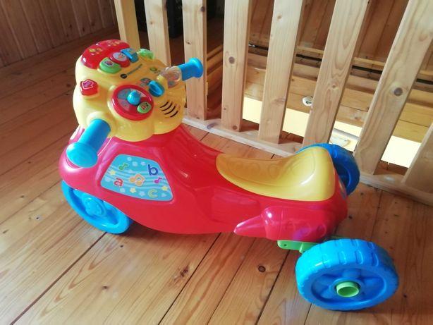 Jeździk 2w1 motor vtech+jeździk Chicco gratis