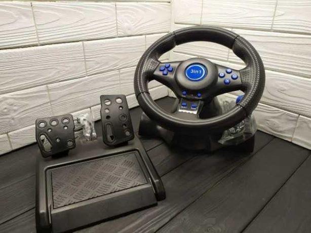 Руль Игровой Vibration Steering Wheel (PS3, PS2, PC USB)