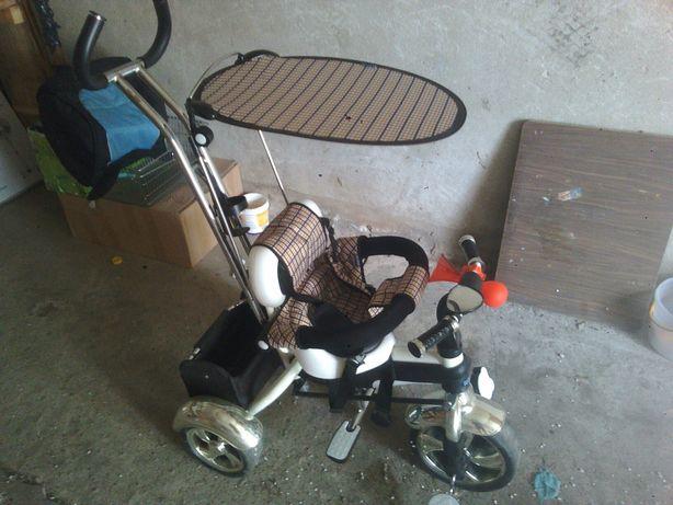 Rower 3 kołowy trójkołowy z daszkiem