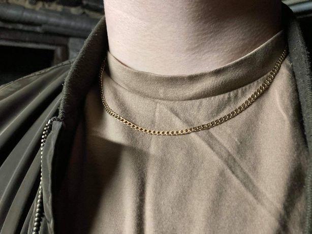 Złoty łańcuszek pancerka 3mm