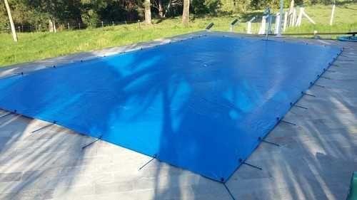 Lona com ilhoses para piscina 7x5mts