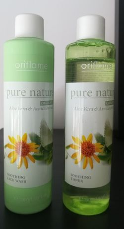 Conjunto Limpeza e Tónico Aloé Vera & Arnica Pure Nature - Oriflame