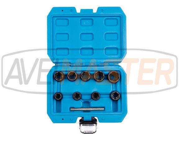 Conjunto 10 sets C/Chave Caixa 3/8 espiral p/Remover Porcas - 861930
