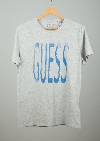 GUESS koszulka t-shirt siwy z metką z outletu rozmiar S
