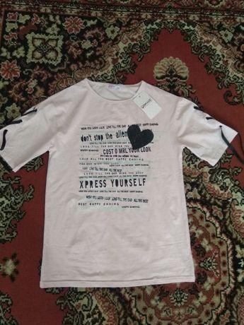 Новая футболка р-р 158- 164 замеры в описании