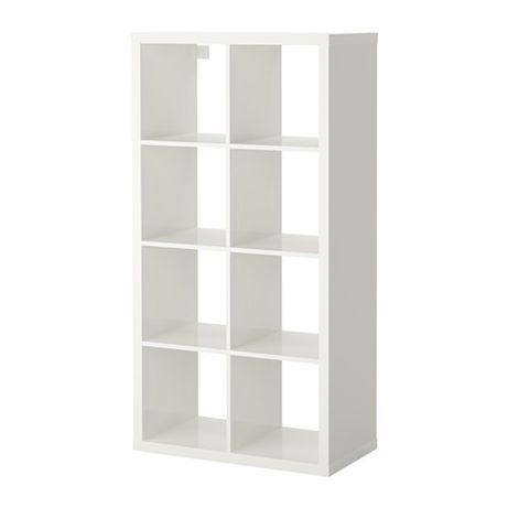 Regał Kallax IKEA w kolorze biały połysk