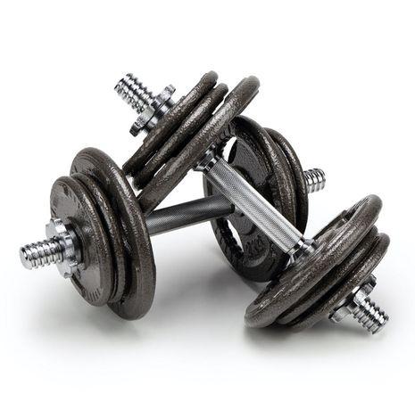 HANTLE TRENINGOWE żeliwne 20 kg - 2x 10kg Hantel do ćwiczeń